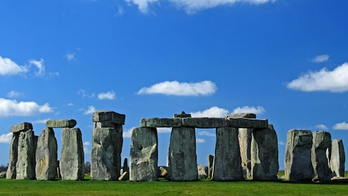 Stonehenge under bright blue sky in London