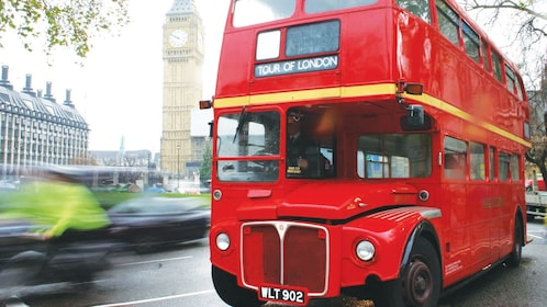 Double-Decker drives streets of Westminster in London