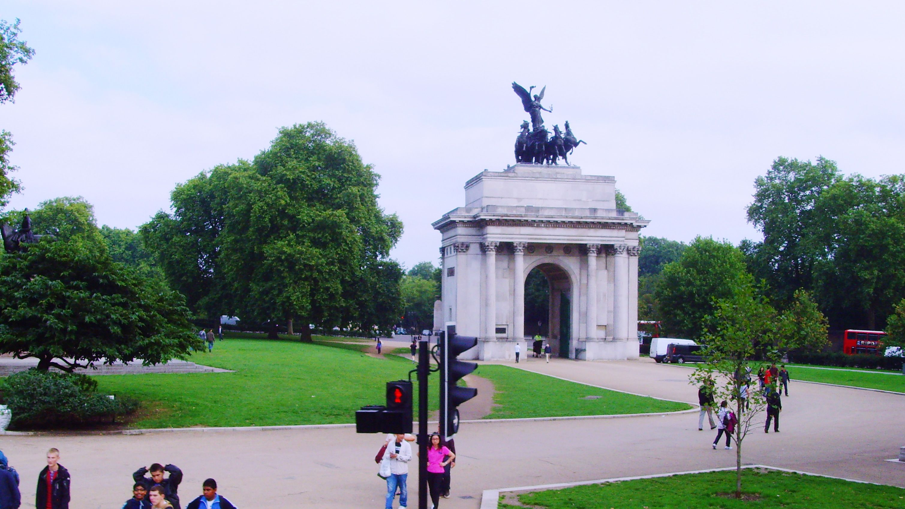 Marble Arch on bicycle tour in London