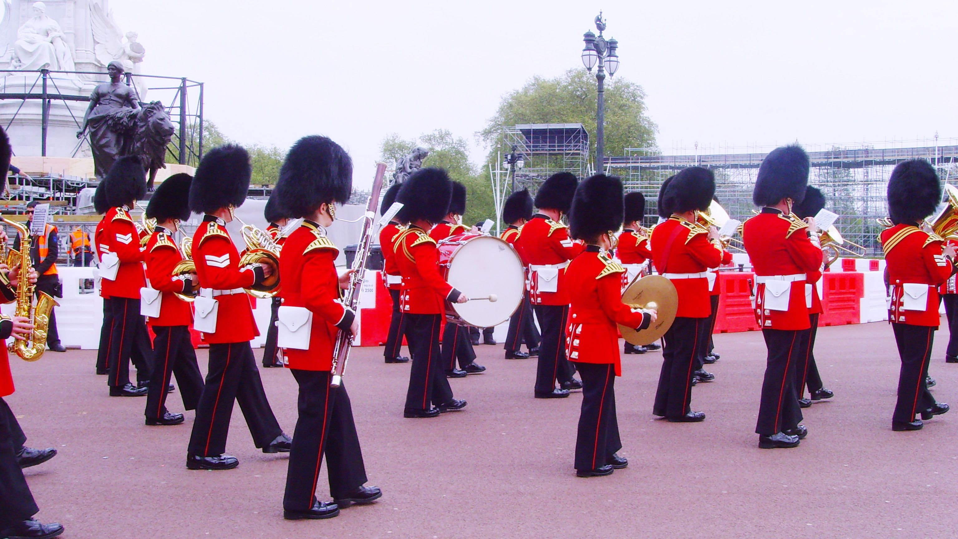 Royal marching band in London