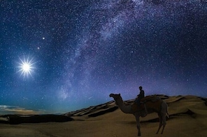 (Private Tour) Night Desert Safari, Camel Ride, Dune Bashing.
