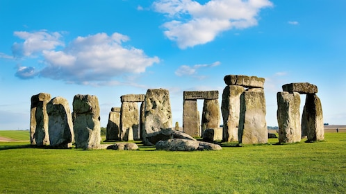 bright noon day sky and clouds above Stonehenge in London