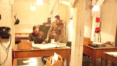 actors at the Westminster Churchhill War Room museum in London