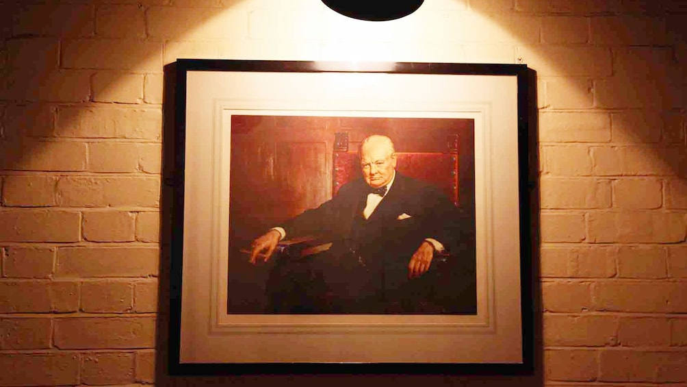 Show item 2 of 5. Portrait of Winston Churchill in London