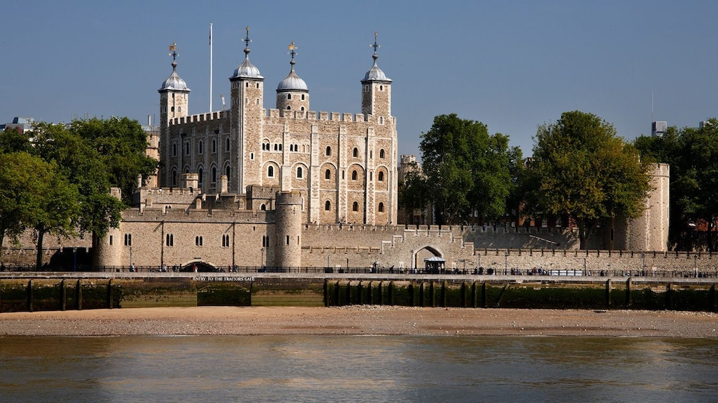 Show item 4 of 10. channel view of the watch tower on the side of the Tower of London