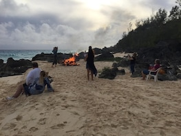 Bermuda year round bonfire and dark&stormy beach experience