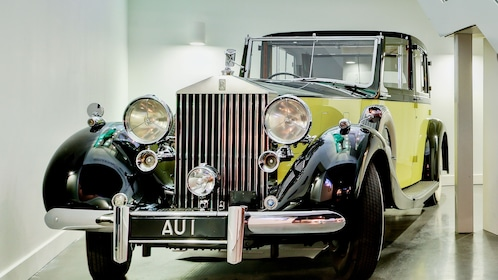 vintage Rolls Royce on display at London Film Museum