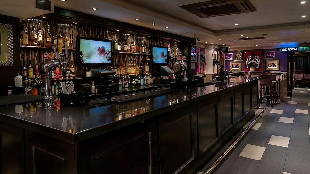 bar area of Hard Rock Cafe in London
