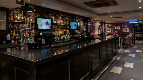 bar area of Hard Rock Cafe in London