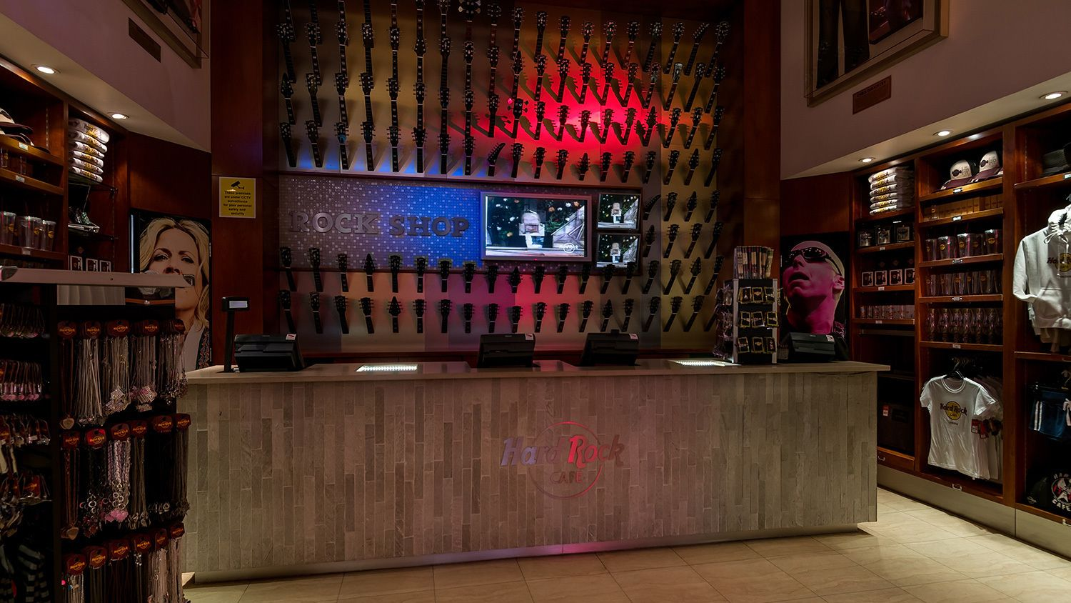 gift shop of Hard Rock Cafe in London