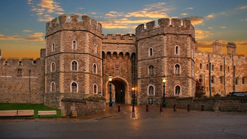 sunset at Windsor Castle in London