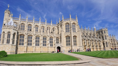 front exterior of Windsor Castle in London