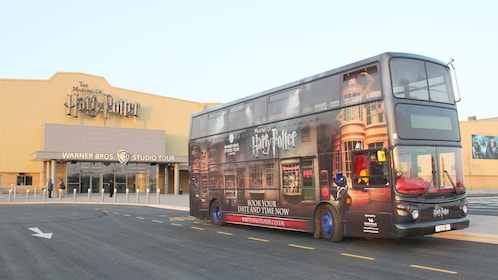 Harry Potter touring bus at Warner Brothers studio in London
