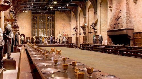 View of grand hall set of Harry Potter in London