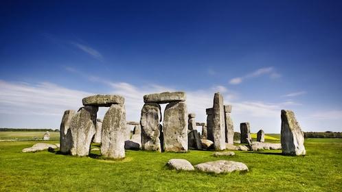Stonehenge under clear blue skies in London