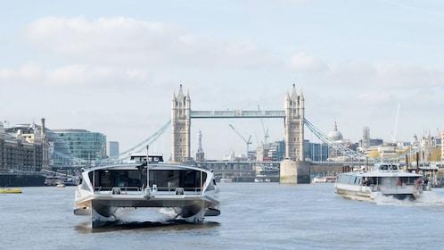 passenger ferries on London Harbor in London