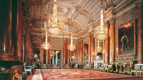 interior of Buckingham Palace in London