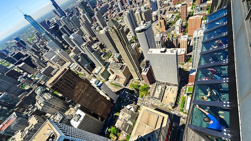 Aerial view of Chicago skyline from Willis Tower