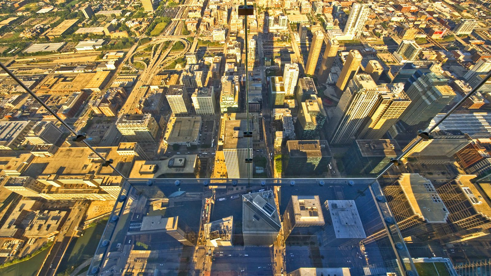 View from Willis Tower observation deck