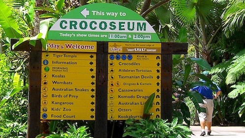 signs for visitors at the zoo in Australia