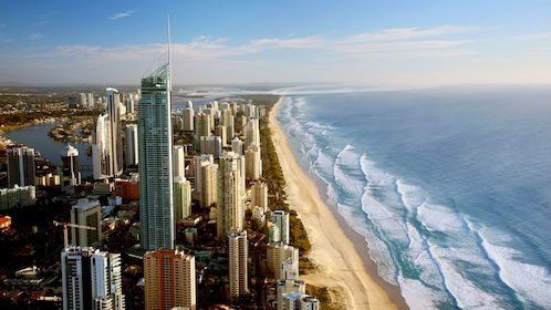 The SkyPoint Observation Deck watching over the beach in Australia