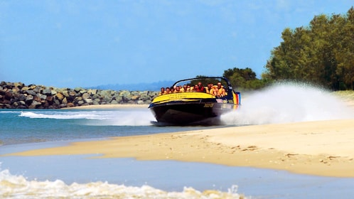 jet boat zipping through the waters in Australia
