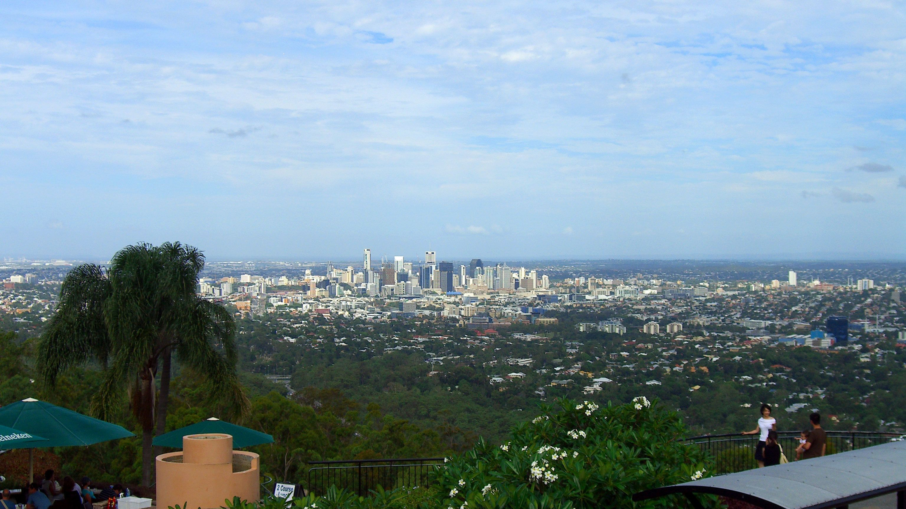 Gorgeous view of the city of Brisbane