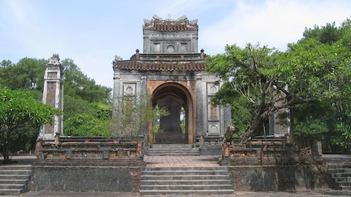 old stone structure in Vietnam