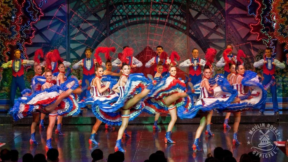 Indlæs billede 5 af 9. Can can dancers at the Moulin Rouge.