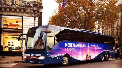 Disneyland Paris tour bus in Paris