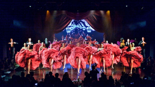 Can Can dancers at Lido Cabaret in Paris.