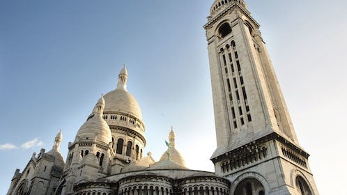 White towers and domes of Montmartre.