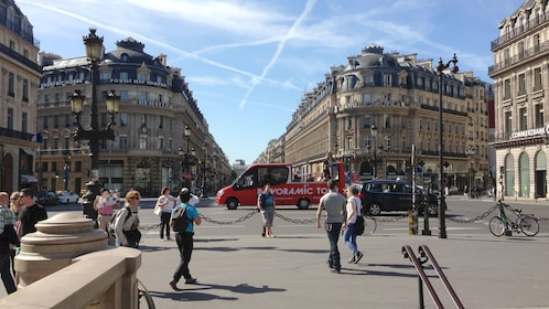 Busy Paris street.