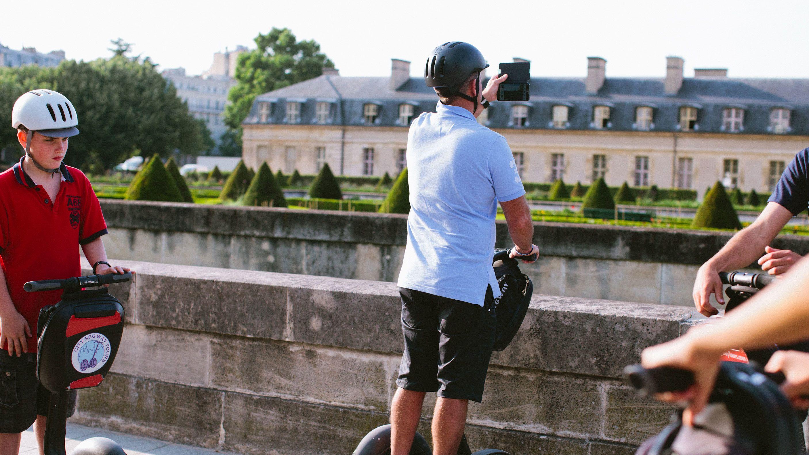 Segway rider looking out at Paris