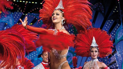 Feathered performers at the Moulin Rouge in Paris.