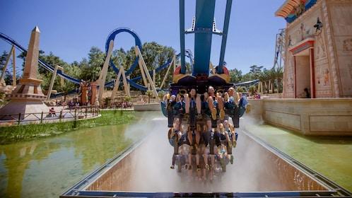 Roller coaster at Parc Asterix in Paris.