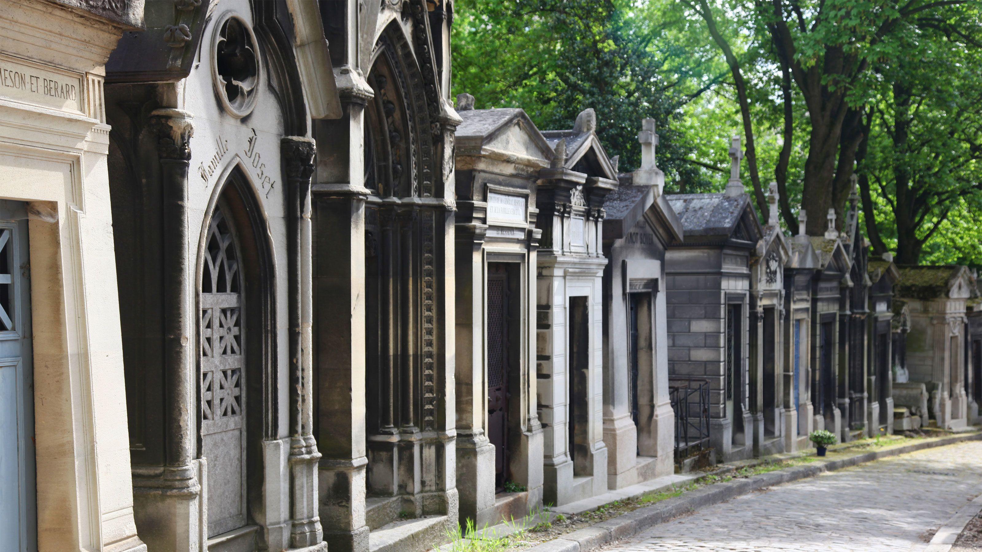 Mausoleum in a cemetery in Paris.