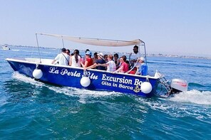 La Perla Blu Siracusa Old City Center And Sea Caves Excursion Boat
