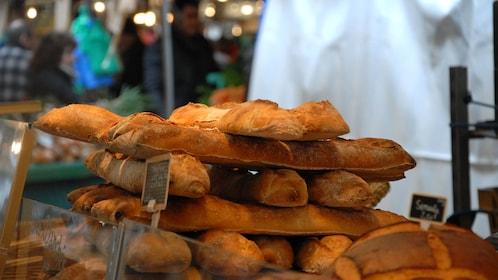 Fresh baked bread at a Paris market