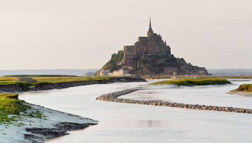 View of Mont St. Michel in the distance