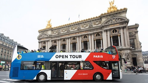 Hop-On Hop-Off bus at destination during tour in Paris