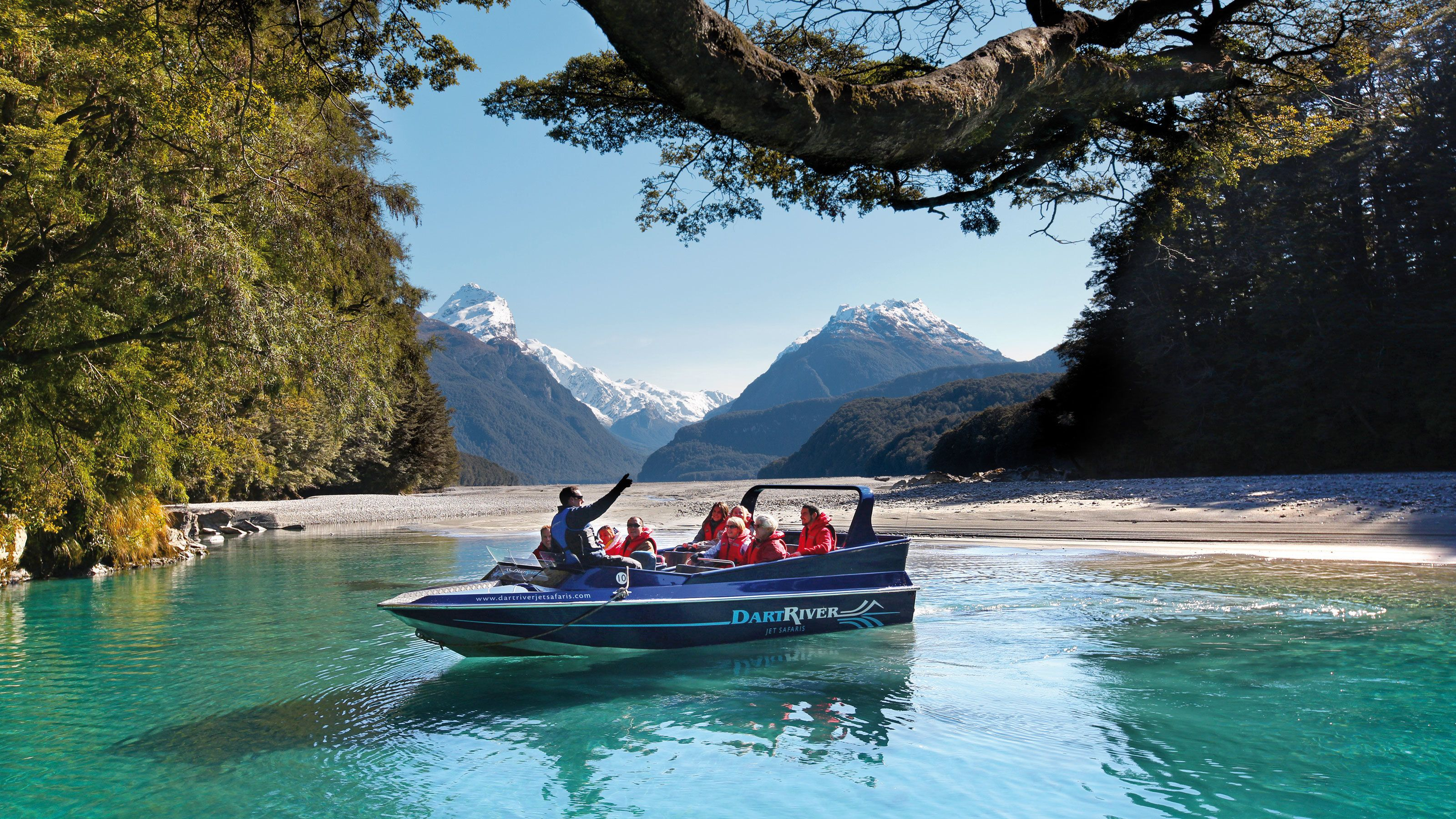 aboard the jet safari boat in New Zealand