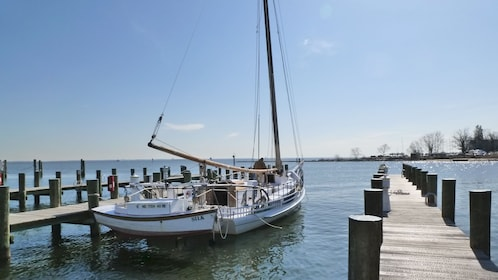 A sailboat docked in Annapolis