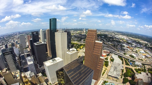 Gorgeous aerial view of Houston