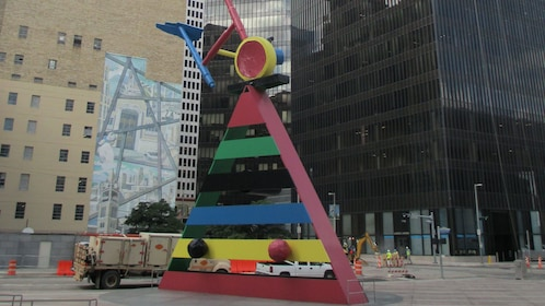 View of an art piece in Houston