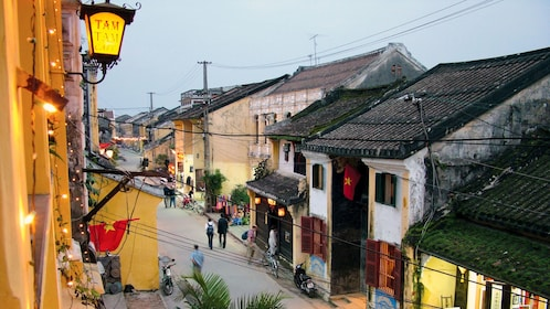 View of UNESCO-listed Old Town of Hoi An in Vietnam