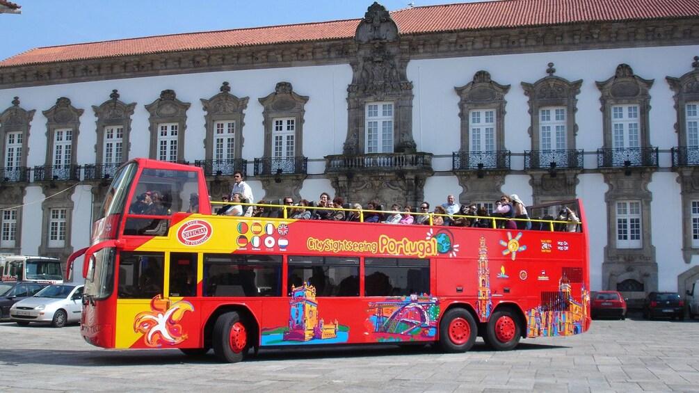 Show item 8 of 8. Open-air double decker tour bus in Porto