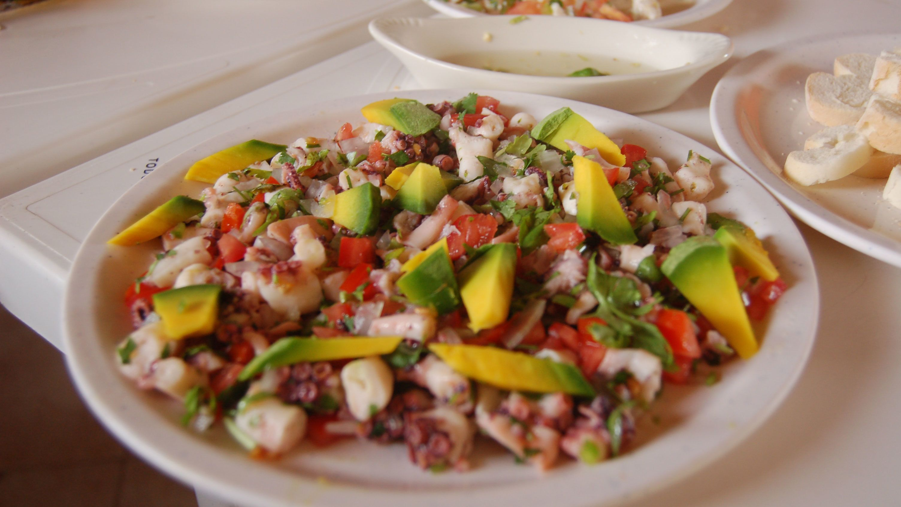 Ceviche made from fresh local ingredients