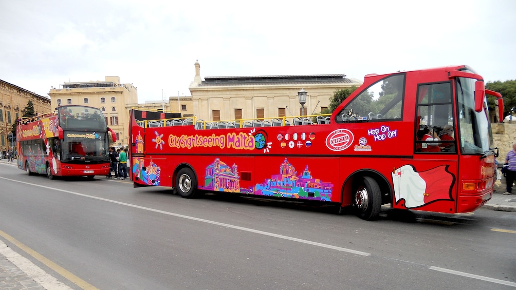 Explore the sights and sounds of Malta on a double decker tour bus
