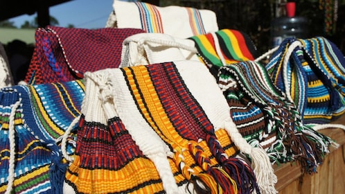 colorful crafted goods at the market in Argentina